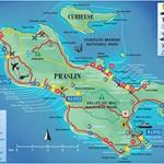 Map of Praslin Seychelles